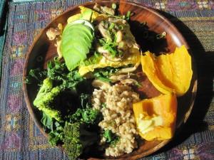 Shiitake Omelette Plate1